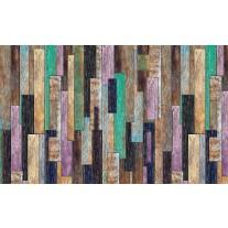 Fotobehang Papier Hout, Landelijk | Groen, Paars | 368x254cm