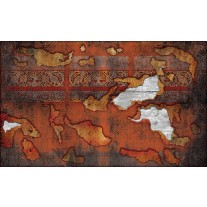 Fotobehang Papier Muur | Oranje, Bruin | 368x254cm