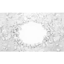 Fotobehang Papier Muur, 3D | Wit | 254x184cm