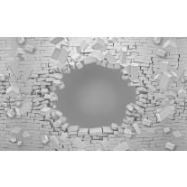 Fotobehang Muur, 3D | Grijs | 152,5x104cm