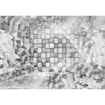 Fotobehang Papier Modern | Grijs, Zilver | 254x184cm