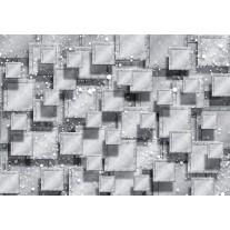 Fotobehang Papier 3D, Modern | Grijs, Zilver | 254x184cm