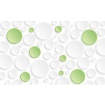 Fotobehang Papier Modern | Groen,Wit | 368x254cm
