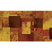 Fotobehang Papier Modern | Bruin, Oranje | 254x184cm
