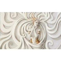 Fotobehang Papier 3D, Modern | Crème | 368x254cm