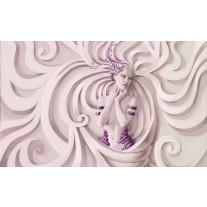 Fotobehang Papier 3D, Modern | Paars | 254x184cm