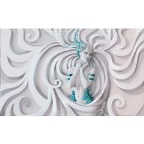 Fotobehang Papier 3D, Modern | Turquoise | 254x184cm