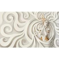 Fotobehang Papier 3D, Modern | Goud | 254x184cm