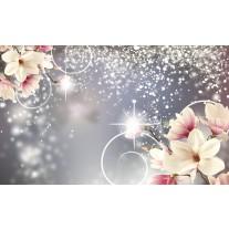 Fotobehang Papier Magnolia, Modern | Zilver | 254x184cm