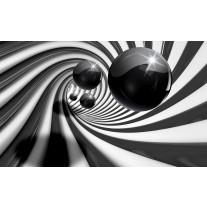 Fotobehang Papier 3D | Zwart, Wit | 254x184cm
