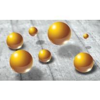 Fotobehang Papier 3D | Goud, Grijs | 254x184cm
