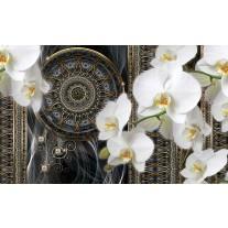 Fotobehang Papier Klassiek, Orchidee | Wit | 254x184cm