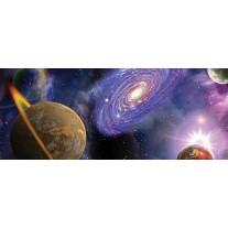 Fotobehang Universum | Blauw, Paars | 250x104cm