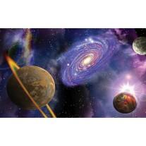 Fotobehang Papier Universum | Blauw, Paars | 368x254cm