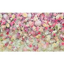 Fotobehang Papier Bloemen | Roze, Crème | 368x254cm