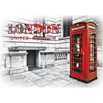 Fotobehang Papier England, London | Rood | 368x254cm