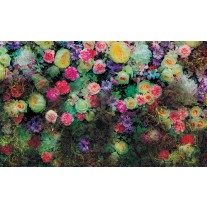 Fotobehang Papier Bloemen, Klassiek | Groen | 254x184cm