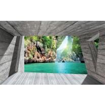 Fotobehang Papier Natuur, Modern | Groen | 254x184cm