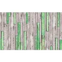 Fotobehang Papier Hout | Groen, Grijs | 254x184cm