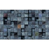 Fotobehang Papier Hout | Blauw | 254x184cm