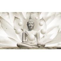 Fotobehang Papier Boeddha, Zen | Wit | 254x184cm