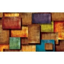 Fotobehang Papier 3D, Modern | Oranje | 368x254cm