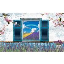 Fotobehang Papier Landelijk | Blauw | 254x184cm