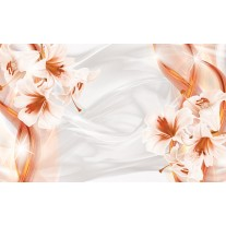 Fotobehang Papier Bloemen, Modern | Oranje | 368x254cm