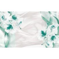 Fotobehang Papier Bloemen, Modern | Groen | 254x184cm