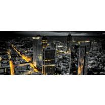 Fotobehang Skyline | Grijs, Geel | 250x104cm