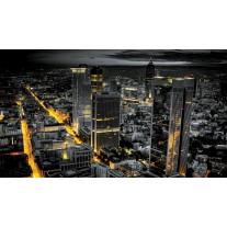 Fotobehang Papier Skyline | Grijs, Geel | 368x254cm