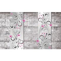 Fotobehang Papier Modern, Hout | Roze | 254x184cm