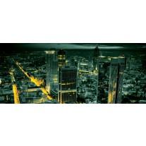 Fotobehang Steden, Skyline | Groen | 250x104cm
