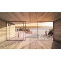 Fotobehang Bos, Modern | Groen | 416x254