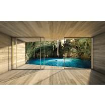 Fotobehang Papier Natuur, Modern | Blauw | 368x254cm