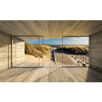 Fotobehang Papier Strand, Modern | Crème | 254x184cm