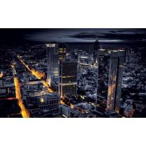 Fotobehang Papier Steden, Skyline | Geel | 254x184cm