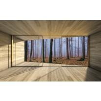 Fotobehang Papier Bos, Hout | Bruin | 368x254cm