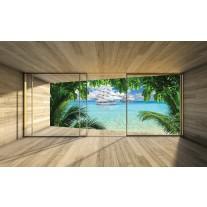 Fotobehang Papier Natuur, Strand | Groen | 368x254cm