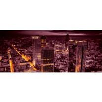 Fotobehang Skyline | Paars | 250x104cm