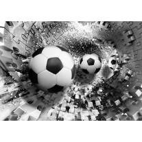 Fotobehang Papier Voetbal | Zwart, Wit | 368x254cm