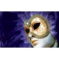 Fotobehang Papier Masker | Paars, Goud | 368x254cm
