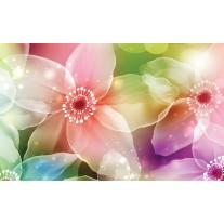 Fotobehang Papier Bloemen | Roze, Paars | 368x254cm
