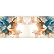 Fotobehang Vogel, Abstract   Crème   250x104cm