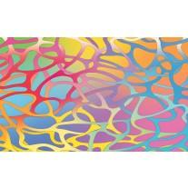 Fotobehang Papier Abstract | Roze, Blauw | 368x254cm