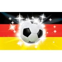 Fotobehang Papier Voetbal | Zwart, Rood | 254x184cm