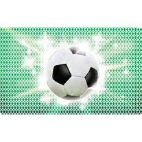 Fotobehang Papier Voetbal   Groen, Wit   254x184cm