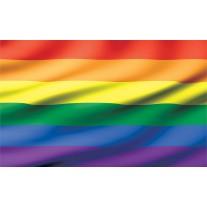 Fotobehang Papier Vlag   Geel, Oranje   254x184cm