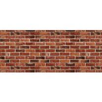 Fotobehang Brick | Rood, Bruin | 250x104cm