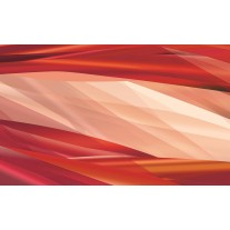 Fotobehang Papier Abstract | Crème, Rood | 254x184cm